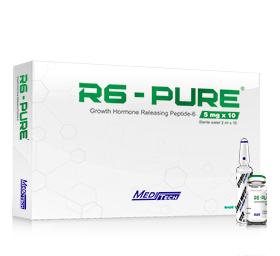 R6 – Pure [GHRP-6 50mg] – 10 Vials – Meditech